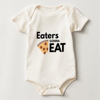 Comedores que van a comer mamelucos de bebé