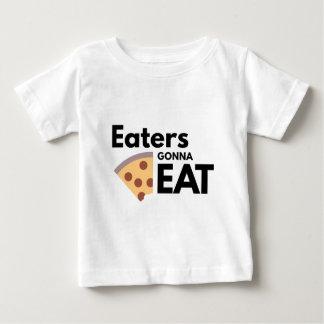 Comedores que van a comer playera de bebé
