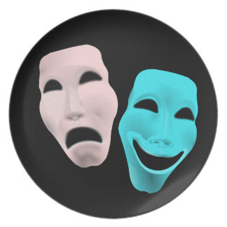 comedy-157719 comedy face theater tragedy masks r party plates