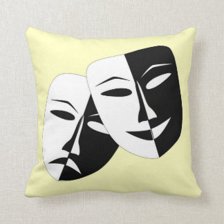 Comedy And Tragedu Throw Pillow