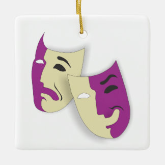Comedy and Tragedy Ceramic Ornament