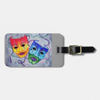 Comedy and Tragedy Bag Tag