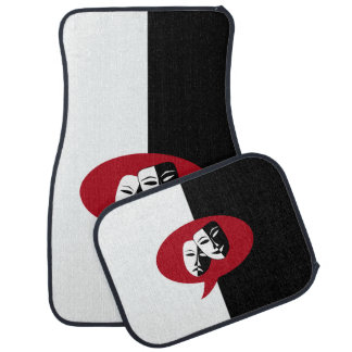 Comedy and Tragedy Masks Car Floor Mat