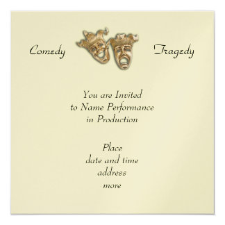 Comedy and Tragedy Masks Invitation
