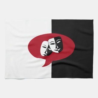 Comedy and Tragedy Masks Kitchen Towel