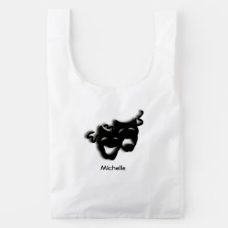 Comedy and Tragedy  Masks Personal Reusable Bag