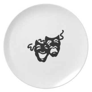 Comedy and Tragedy Masks Plate Dinner Plate