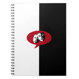 Comedy and Tragedy Masks Spiral Notebook