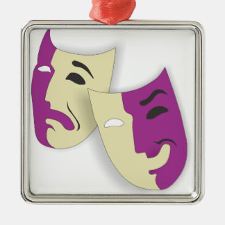 Comedy and Tragedy Metal Ornament