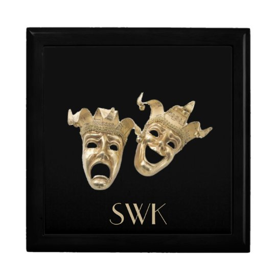 Comedy and Tragedy Monogram Mask Box
