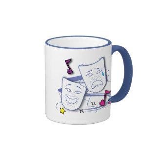 Comedy and Tragedy Stylized Drama Masks Mugs