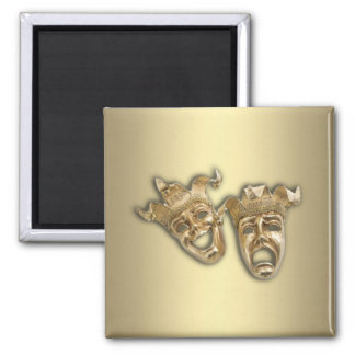 Comedy and Tragedy Theater 2 Inch Square Magnet