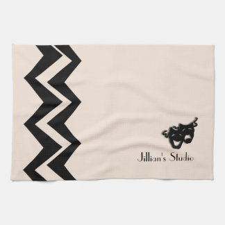 Comedy and Tragedy Theater Art-Deco Custom  Towels