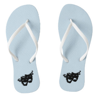 Comedy and Tragedy Theater Blue Flip Flops