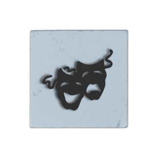 Comedy and Tragedy Theater Blue Stone Magnet