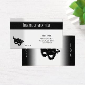 Comedy and Tragedy Theater Business Card
