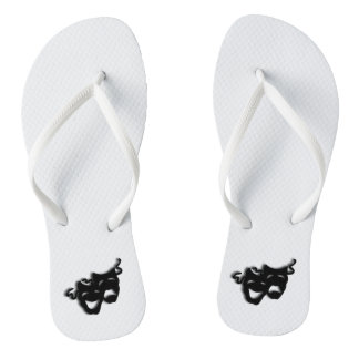 Comedy and Tragedy Theater Flip Flops
