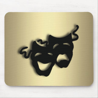 Comedy and Tragedy Theater Gold Mouse Pad
