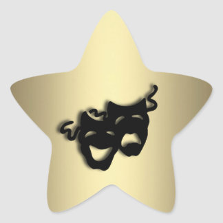 Comedy and Tragedy Theater Gold Star Sticker