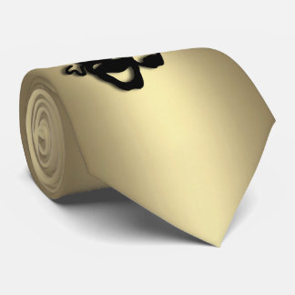 Comedy and Tragedy Theater Gold Tie