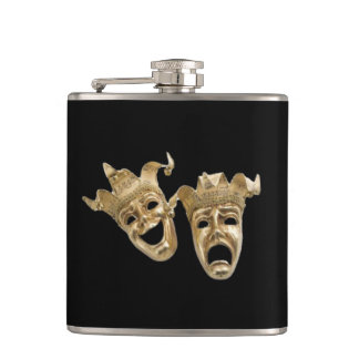 Comedy and Tragedy Theater Hip Flask