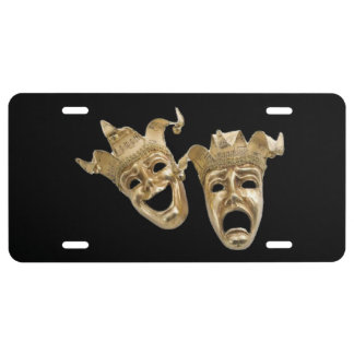 Comedy and Tragedy Theater License Plate