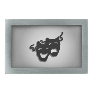 Comedy and Tragedy Theater Masks Belt Buckle