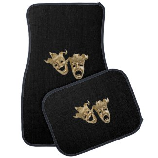 Comedy and Tragedy Theater Masks Black
