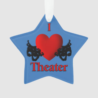 Comedy and Tragedy Theater Masks Blue