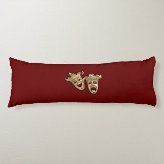 Comedy and Tragedy Theater Masks Body Pillow