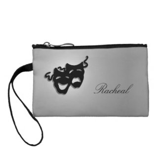 Comedy and Tragedy Theater Masks Coin Wallets