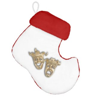Comedy and Tragedy Theater Masks Elf Christmas Stocking