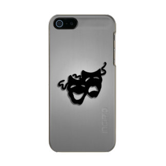 Comedy and Tragedy Theater Masks Metallic iPhone SE/5/5s Case
