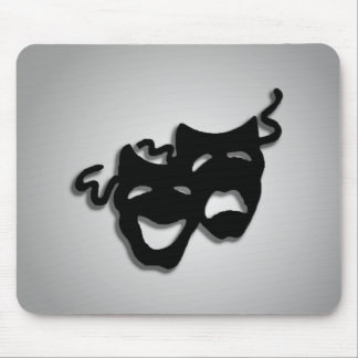 Comedy and Tragedy Theater Masks Mouse Pad
