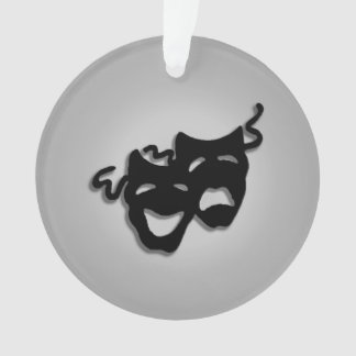 Comedy and Tragedy Theater Masks Ornament