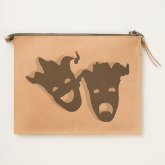 Comedy and Tragedy Theater Masks Travel Pouch