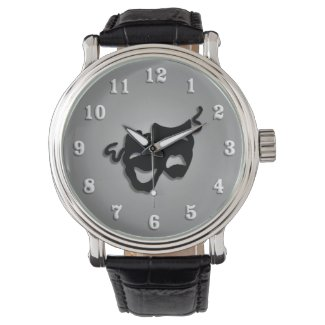 Comedy and Tragedy Theater Masks Watch
