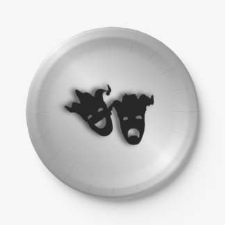 Comedy and Tragedy Theater Paper Plate