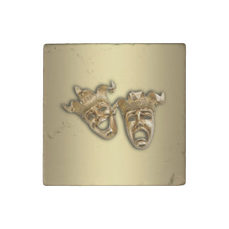 Comedy and Tragedy Theater Stone Magnet