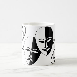 Comedy and Tragedy Theatre Masks/Faces Coffee Mug