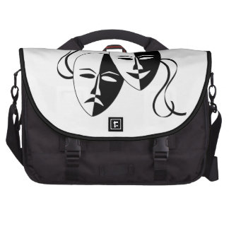 Comedy and Tragedy Theatre Masks/Faces Laptop Bags