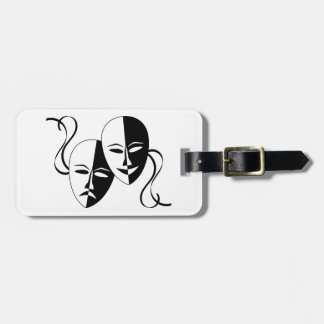 Comedy and Tragedy Theatre Masks/Faces Tags For Luggage