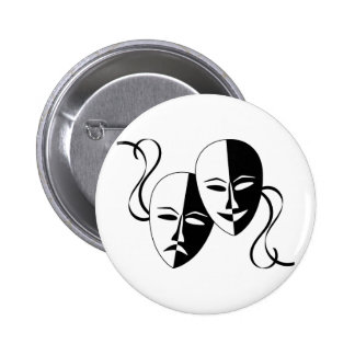 Comedy and Tragedy Theatre Masks/Faces Pinback Button