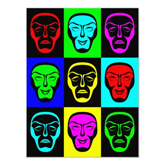 Comedy and Tragedy Theatrical Masks Photo Print