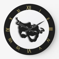 Comedy and Tragedy Unique Theater Wall Clock