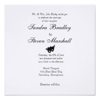 Comedy and Tragedy Wedding Invitations