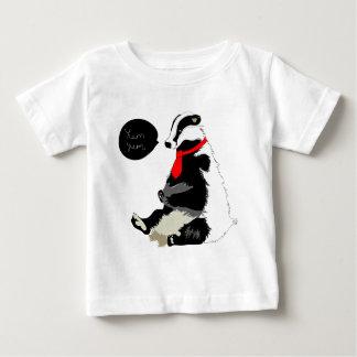 Comedy badger in neck tie infant t-shirt