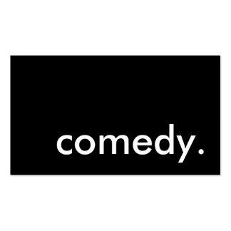 comedy. Double-Sided standard business cards (Pack of 100)