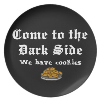 Comedy Come to the Dark Side Dinner Plates