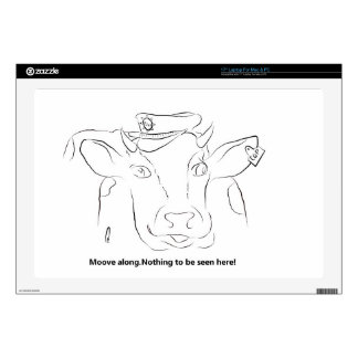 "Comedy Cow 17"" Laptop Skins"